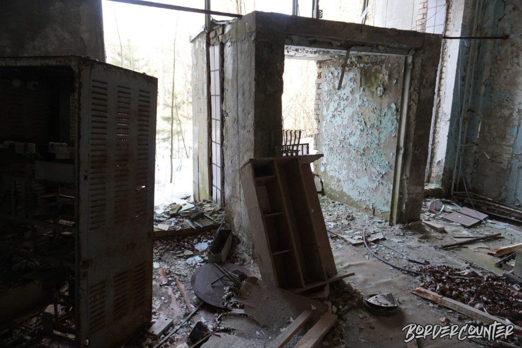 Eingangsbereich Postamt in Tschernobyl